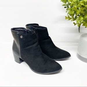 Jessica Simpson Black Suede/Leather Ankle Booties